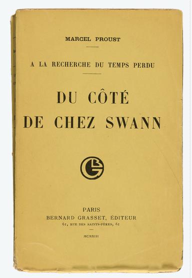 1913 first edition A LA RECHERCHE cover